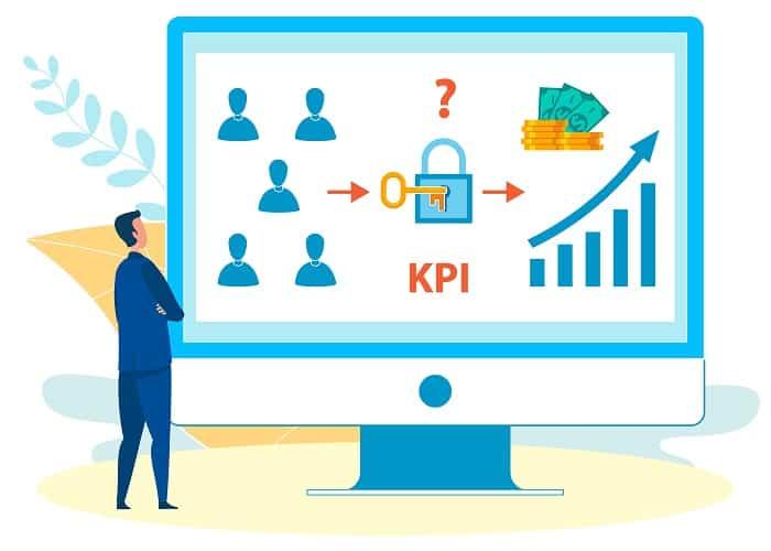 Analysing KPI Rates on Laptop