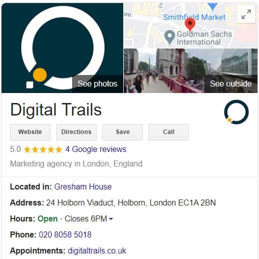 Digital trails google my business